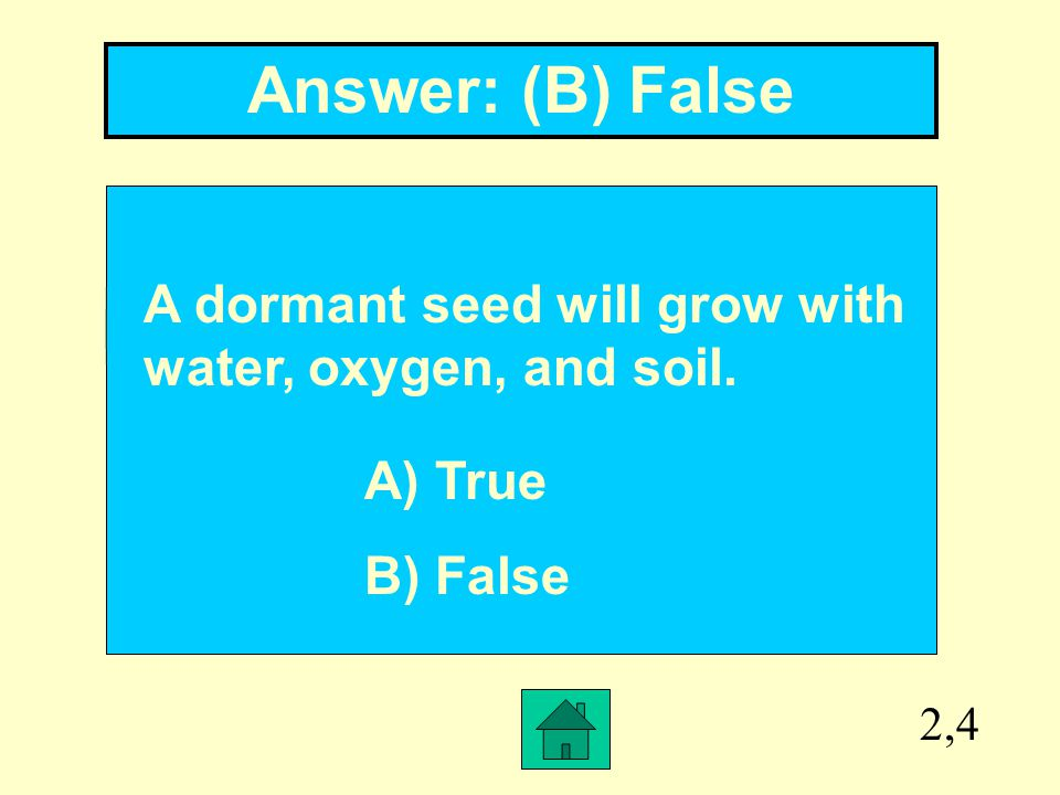 2,3 Answer: ovule Inside an ________ the seed is formed.