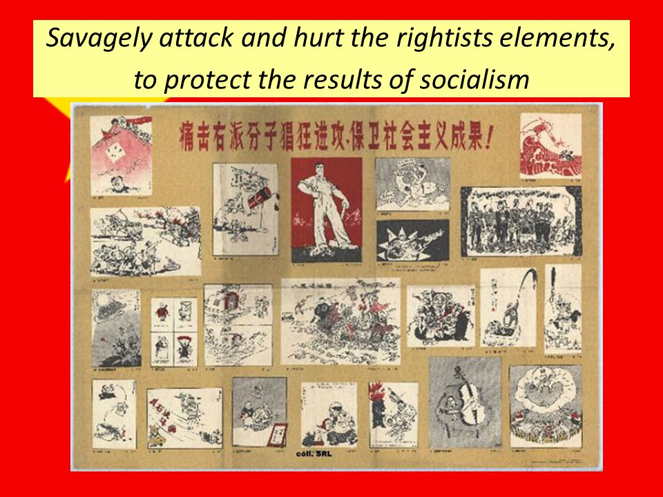 Savagely attack and hurt the rightists elements, to protect the results of socialism