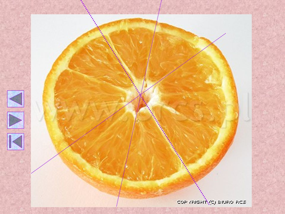 ORANGE Orange is famous not only for its taste but also for its central symmetry.
