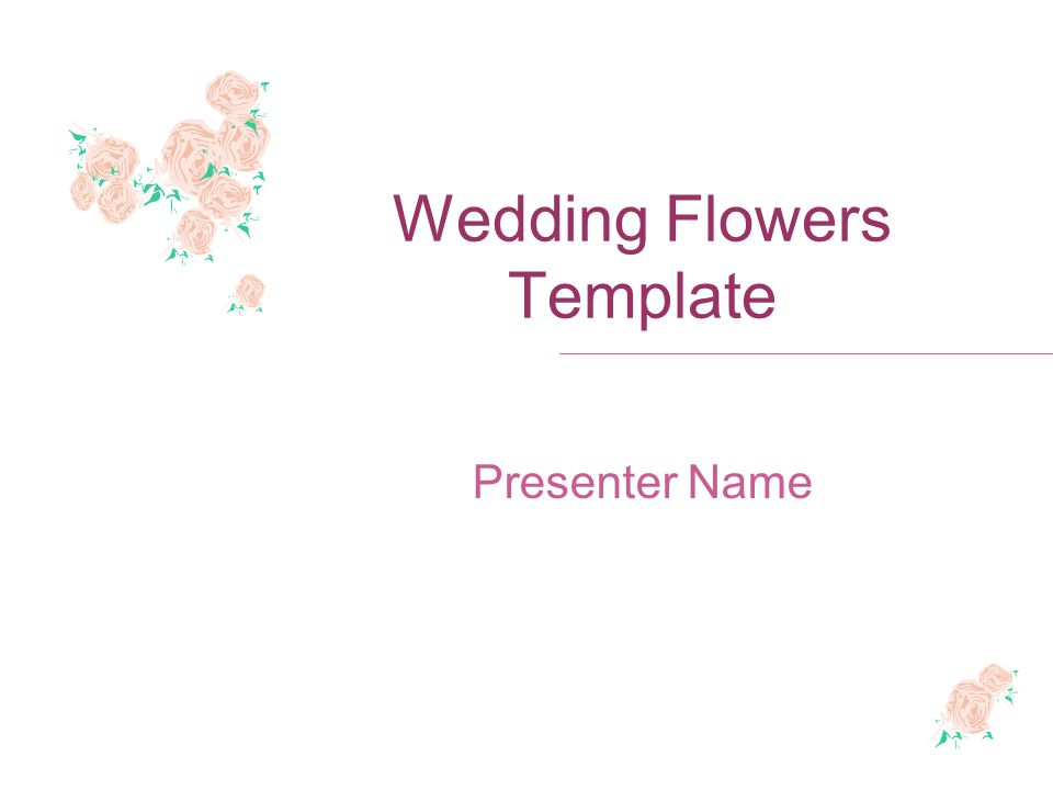 Wedding Flowers Template Presenter Name