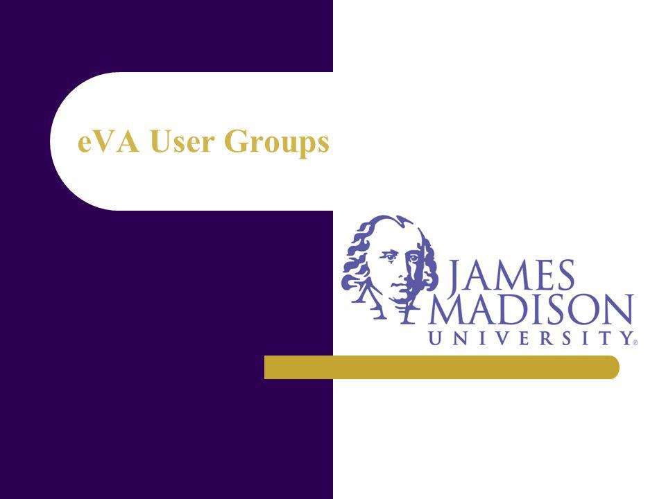 eVA User Groups