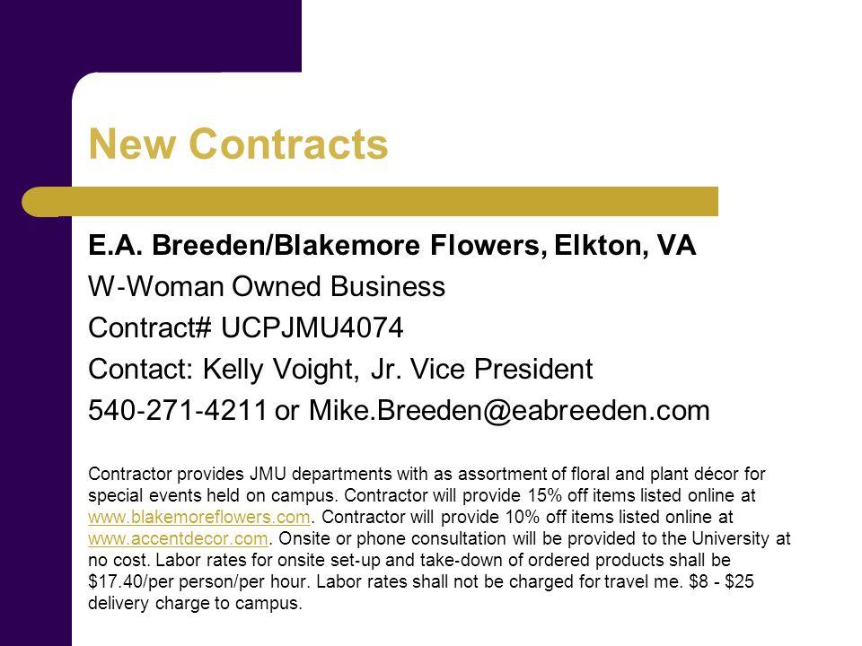 New Contracts E.A.
