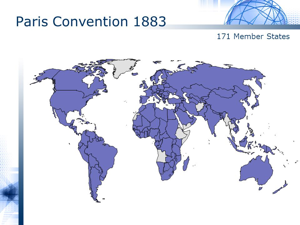 Paris Convention 1883 171 Member States