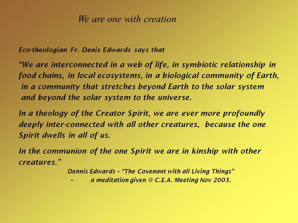 Eco-theologian Fr.