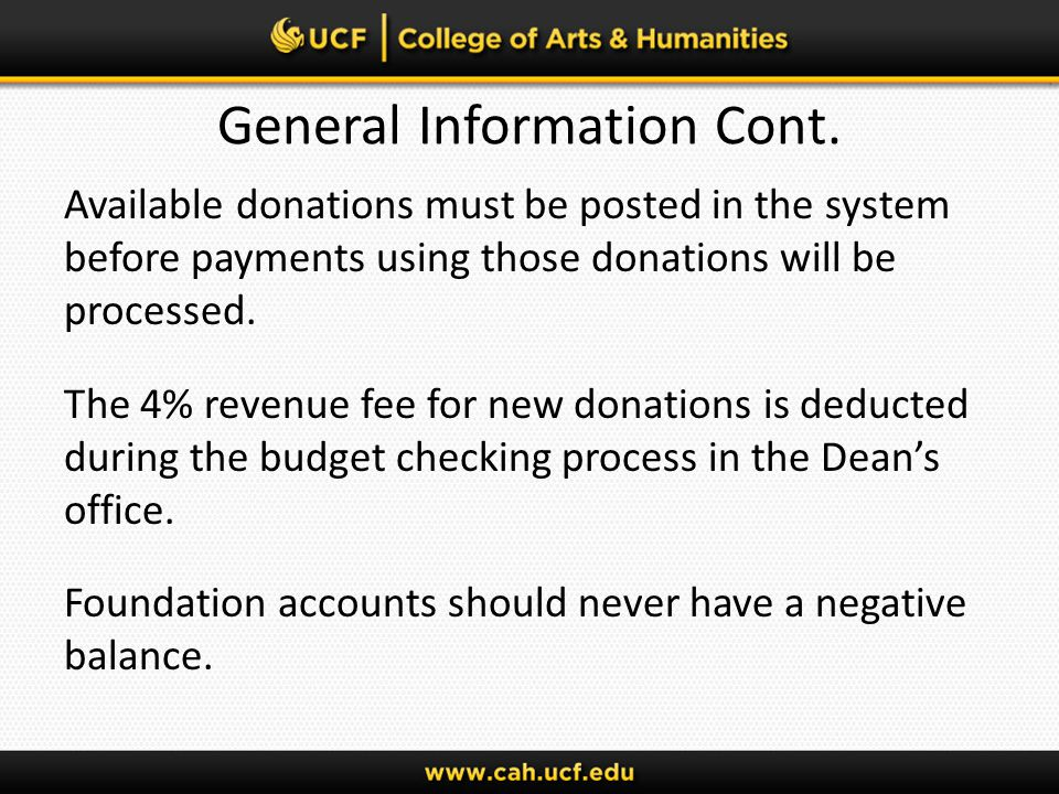 General Guidelines for Completing the Payment Authorization Form Upper Left hand corner: Payee: Complete individual or company name Address: Companys address or home address of individual Vendor FEID or SSN ( last four numbers ONLY, Required) For UCF employees: use Employee ID number (not PID)