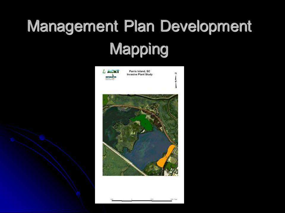 Management Plan Development Mapping