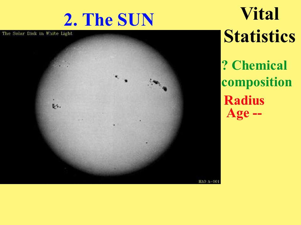 Interior: Core Convection zone (> 0.7 R 0 ) Atmosphere: Photosphere, Chromosphere, Corona Overall Structure