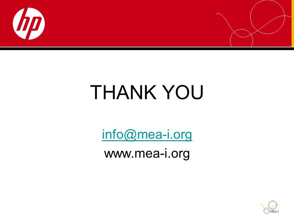 MEA-I THANK YOU info@mea-i.org www.mea-i.org