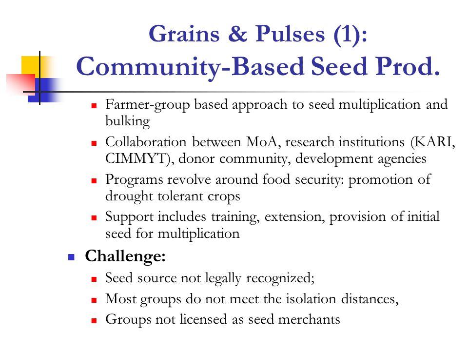 Grains & Pulses (1): Community-Based Seed Prod.