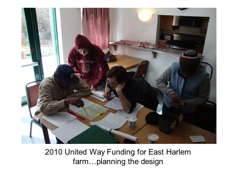 2010 United Way Funding for East Harlem farm…planning the design