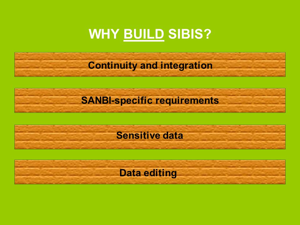 WHO WILL BE USING SIBIS.