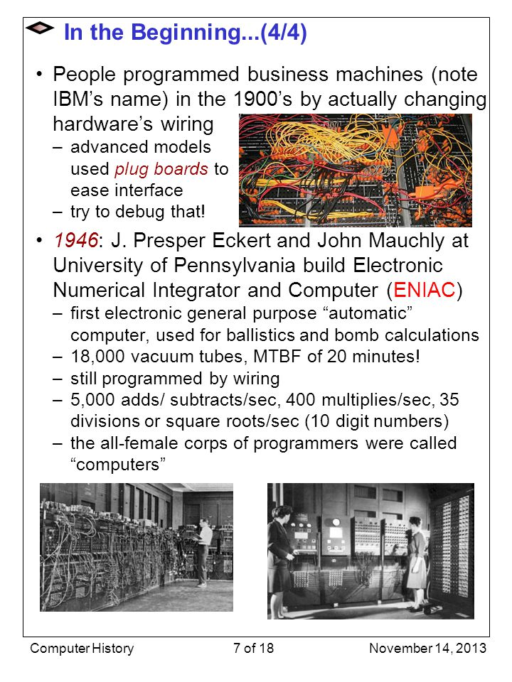 Stored Program Computer Architecture 1945: John von Neumann introduces concept of stored program –program can be stored in main memory and even treated as data to be operated on –paved the way for modern computers Simple philosophy –fetch instruction stored at address in memory –decode and execute instruction –instruction may update memory – even modify stored program itself, e.g.