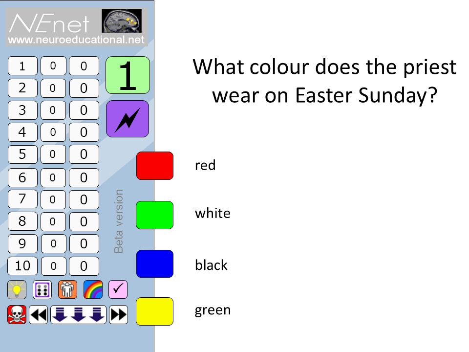 1 2 3 4 5 6 7 8 9 10 0 0 0 0 0 0 0 0 0 0 0 0 0 0 0 0 0 0 0 0 1 Beta version What colour does the priest wear on Easter Sunday.