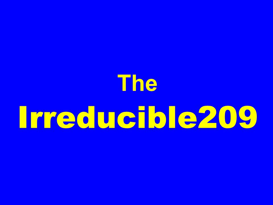 The Irreducible209