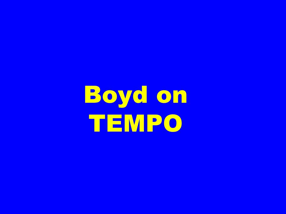 Boyd on TEMPO