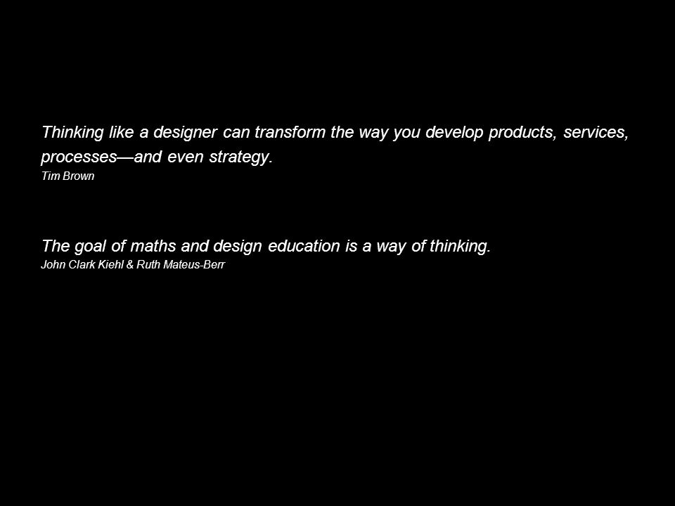Thinking like a designer can transform the way you develop products, services, processesand even strategy.