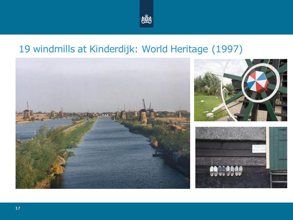 19 windmills at Kinderdijk: World Heritage (1997) 17