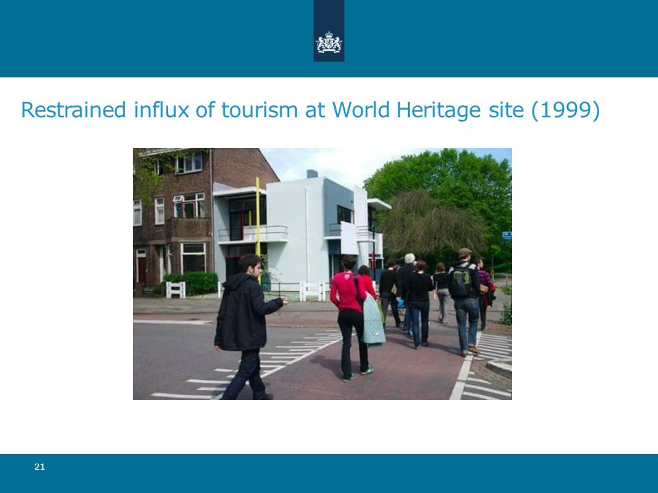 Restrained influx of tourism at World Heritage site (1999) 21