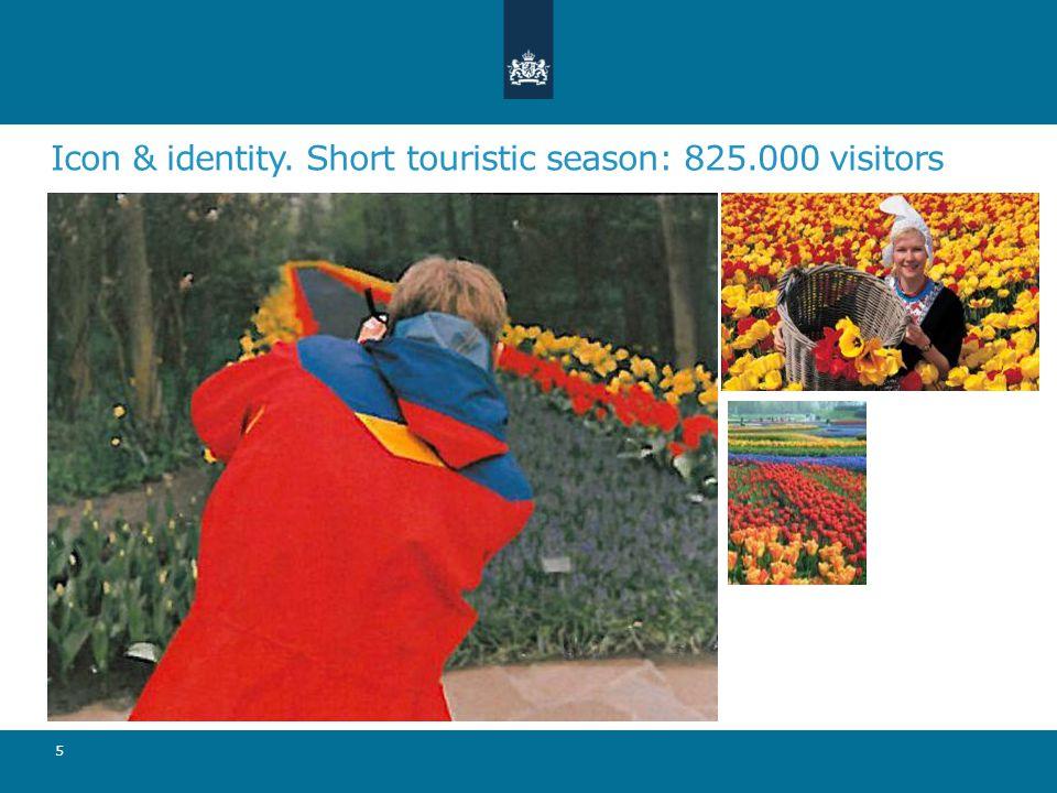 Icon & identity. Short touristic season: 825.000 visitors 5