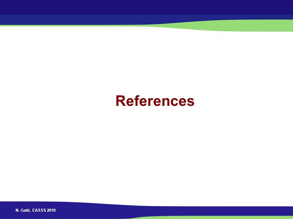 N. Gatti, EASSS 2010 References