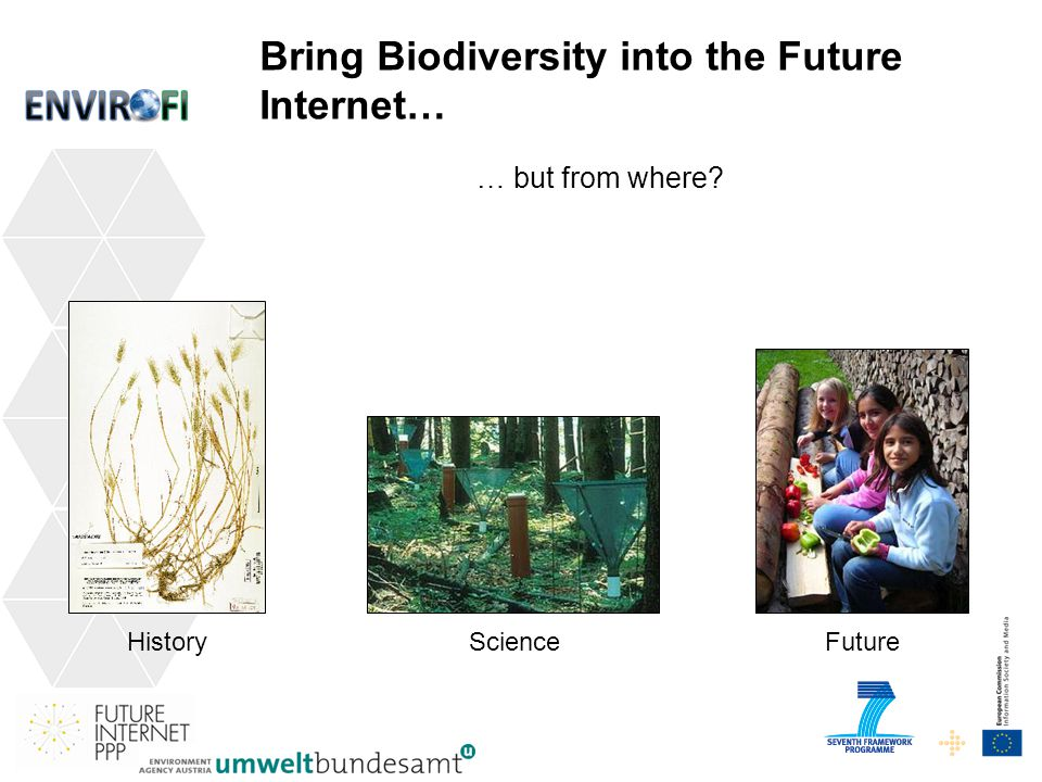 14 … but from where HistoryScienceFuture Bring Biodiversity into the Future Internet…