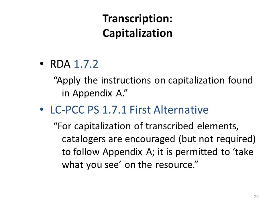 21 Transcription: Capitalization Accepting found capitalization: 245 10 $a Cairo : $b THE CITY VICTORIOUS / $c Max Rodenbeck.