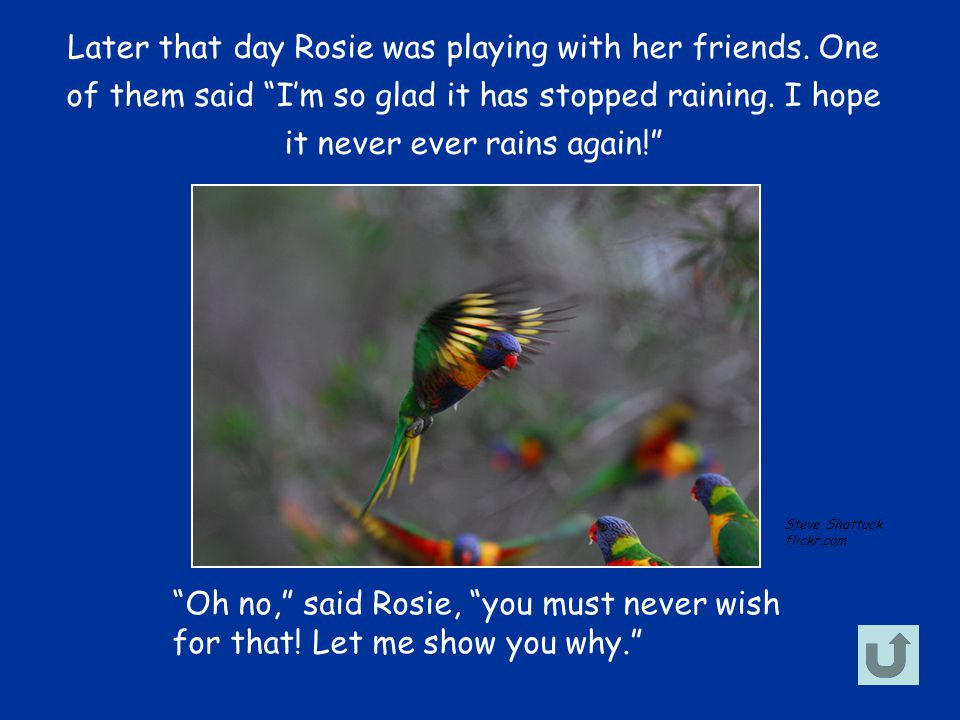 Later that day Rosie was playing with her friends.