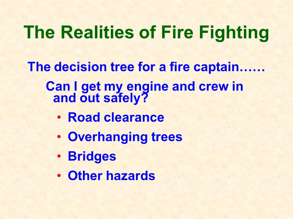 Realities of Firefighting How can you improve the odds of your home surviving a fire.