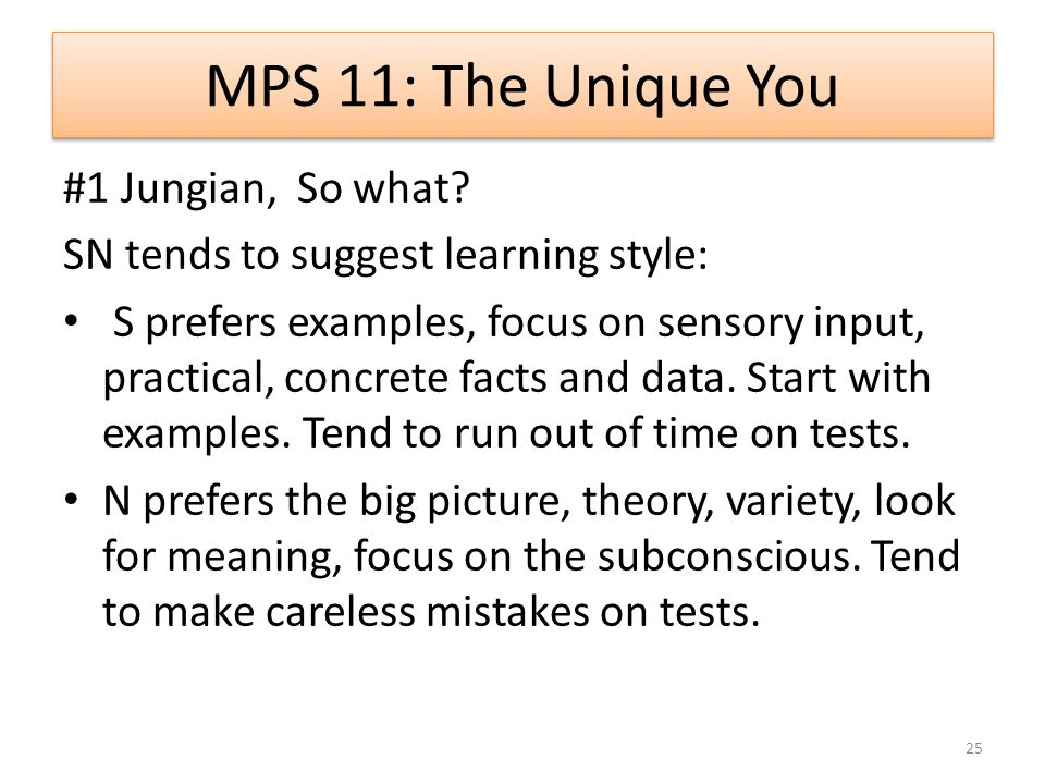 MPS 11: The Unique You #1 Jungian, So what.