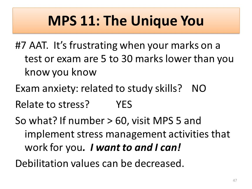 MPS 11: The Unique You #7 AAT.