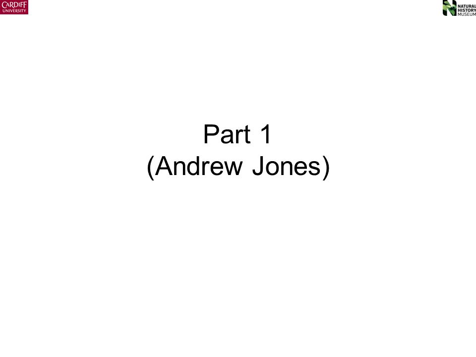 Part 1 (Andrew Jones)