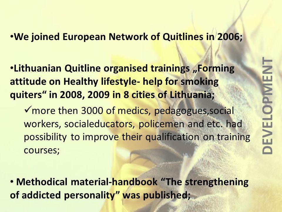 FINANCE LITHUANIAN QUITLINE BUDGET 2006 - 20070 2007 - 20080 2008 - 20090 2009 - 20100