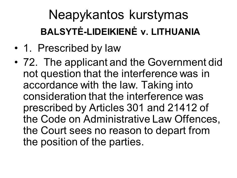 Neapykantos kurstymas BALSYTĖ-LIDEIKIENĖ v. LITHUANIA 1.