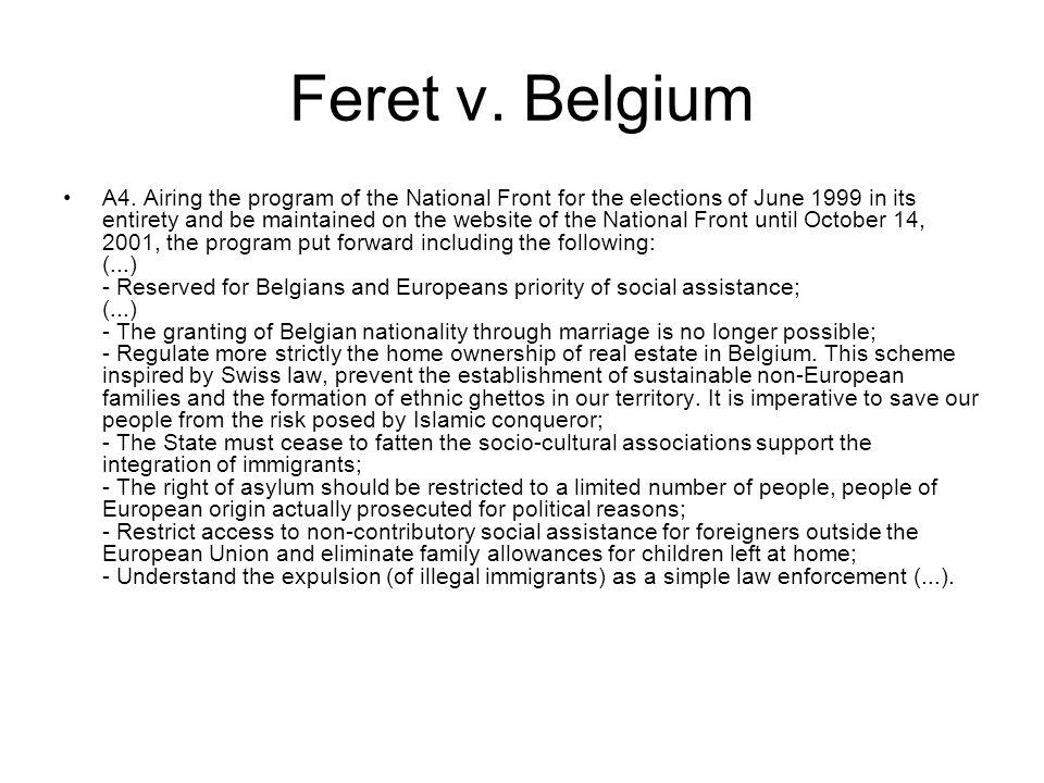 Feret v. Belgium A4.