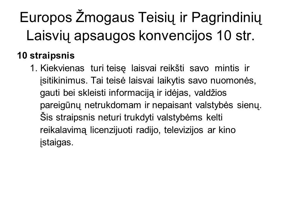 Neapykantos kurstymas BALSYTĖ-LIDEIKIENĖ v.LITHUANIA 2.