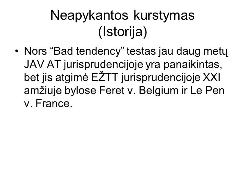 Neapykantos kurstymas Feret v.Belgium, 2009, liepos 16 d., Bylos Nr.