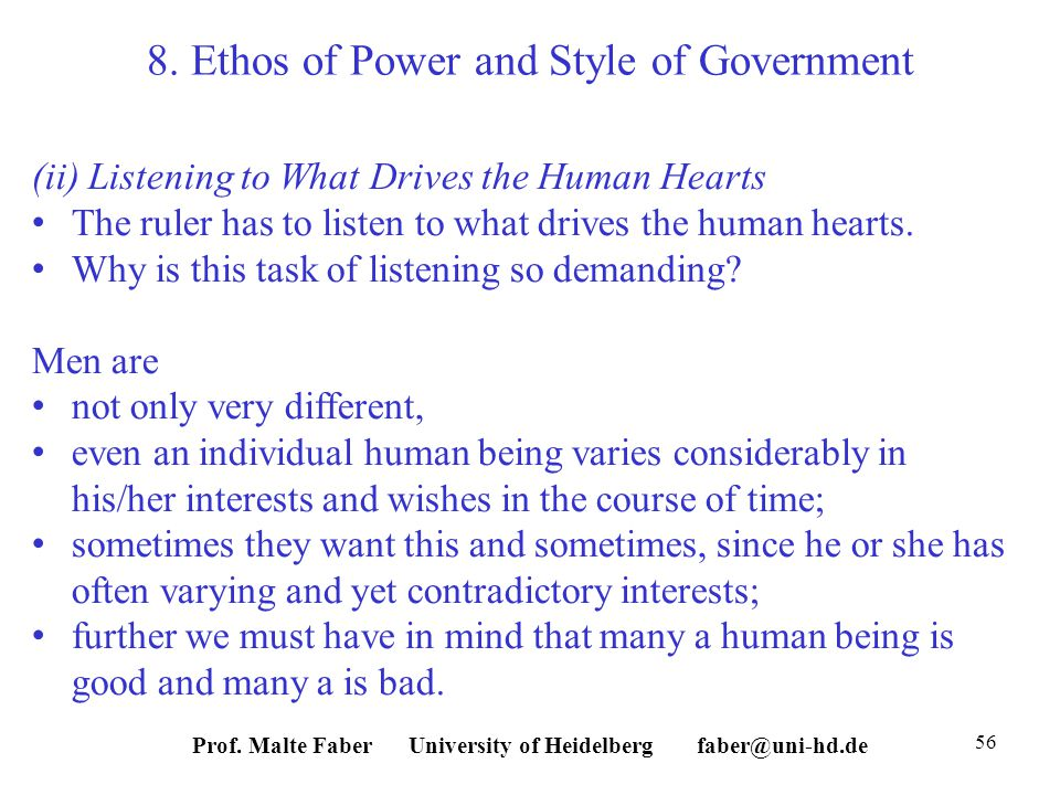 Prof. Malte Faber University of Heidelberg faber@uni-hd.de 56 8.