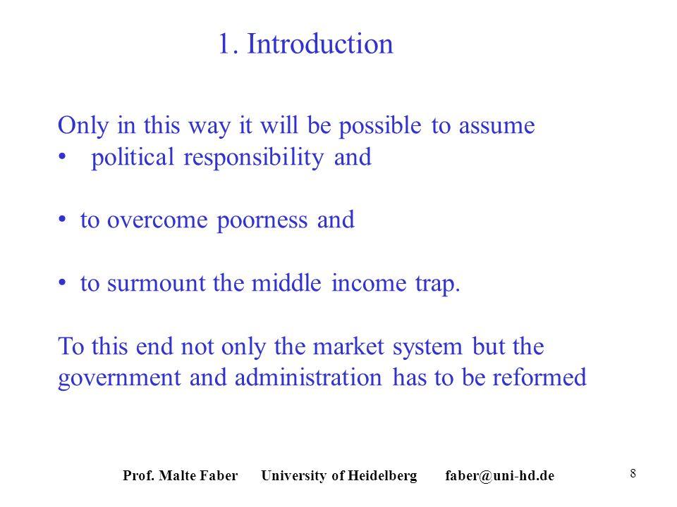 Prof. Malte Faber University of Heidelberg faber@uni-hd.de 8 1.