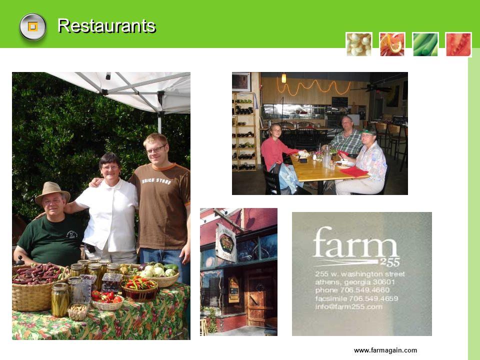 www.farmagain.com Restaurants