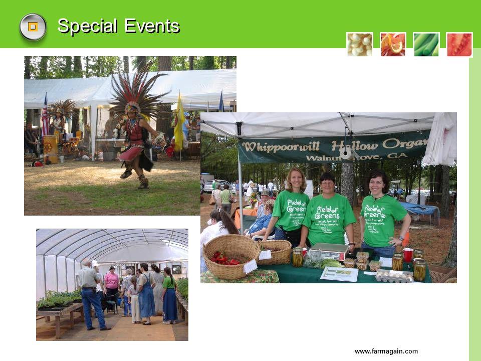 www.farmagain.com Special Events