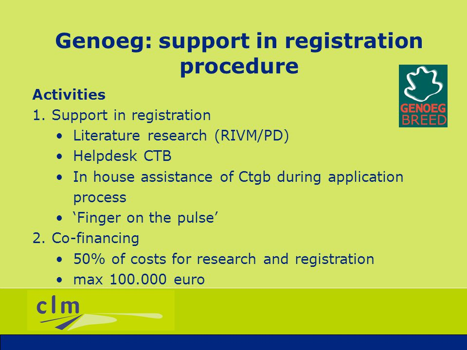 Genoeg: issue management Website www.genoeg.netwww.genoeg.net Seminars Newsletters