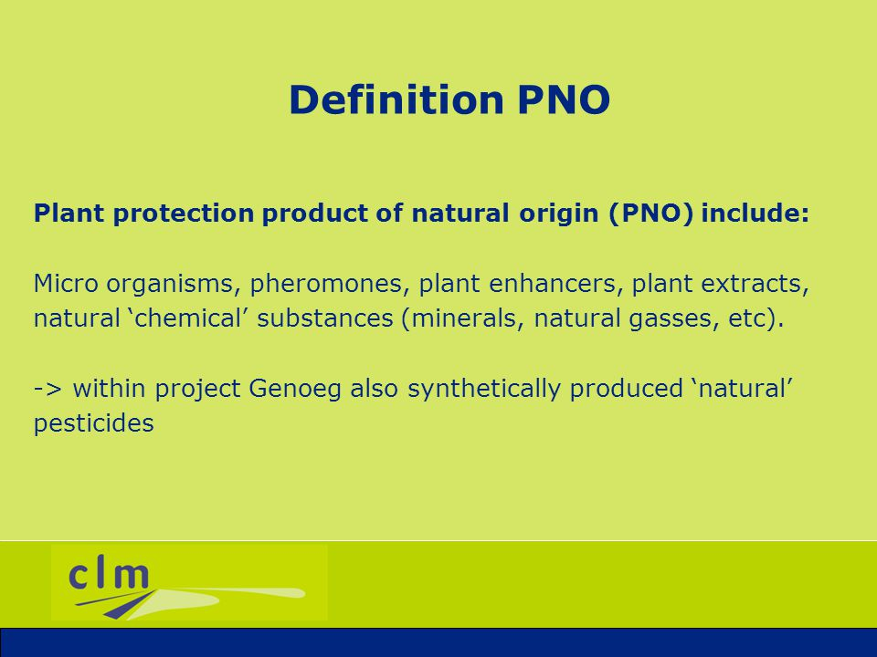 Topics 1.Definition PNO 2.Context 3.Genoeg: series of projects 4.Experiences 5.Future