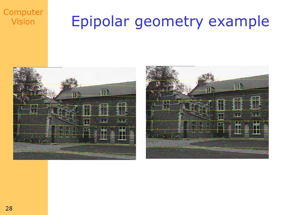 Computer Vision 28 Epipolar geometry example