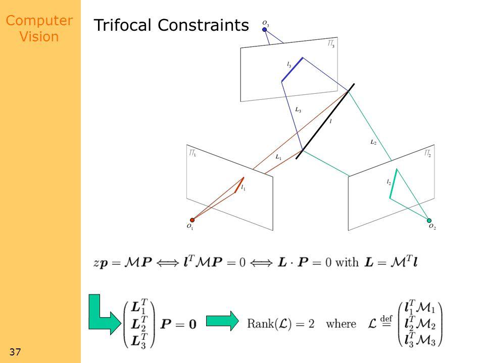 Computer Vision 37 Trifocal Constraints