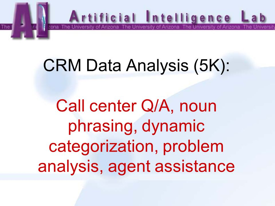 CRM Data Analysis (5K): Call center Q/A, noun phrasing, dynamic categorization, problem analysis, agent assistance