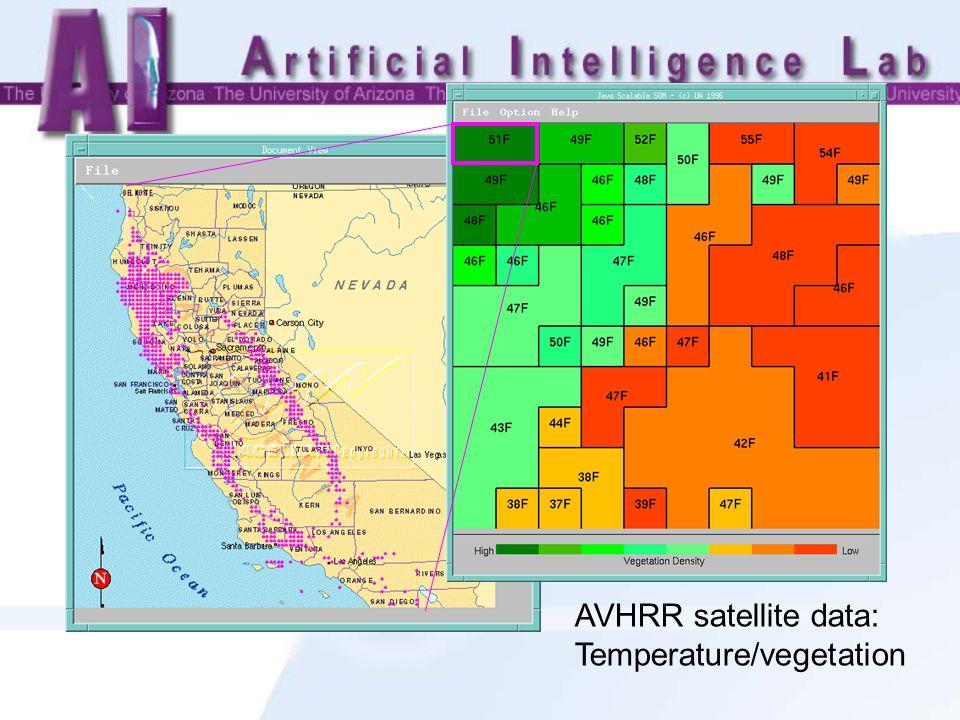 AVHRR satellite data: Temperature/vegetation