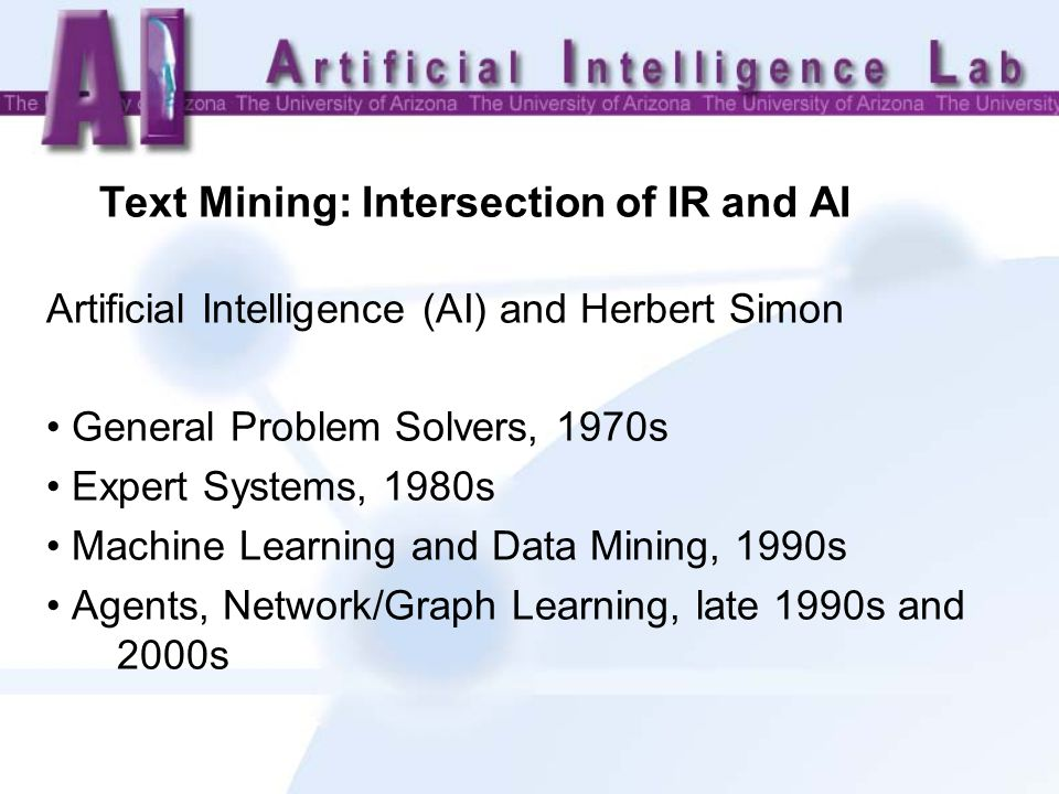 Representing Knowledge IR Approach Indexing and Subject Headings Dictionaries, Thesauri, and Classification Schemes AI Approach Cognitive Modeling Semantic Networks, Production Systems, Logic, Frames, and Ontologies