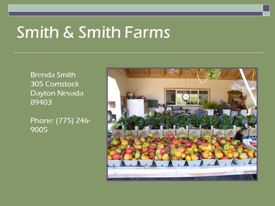 Brenda Smith 305 Comstock Dayton Nevada 89403 Phone: (775) 246- 9005