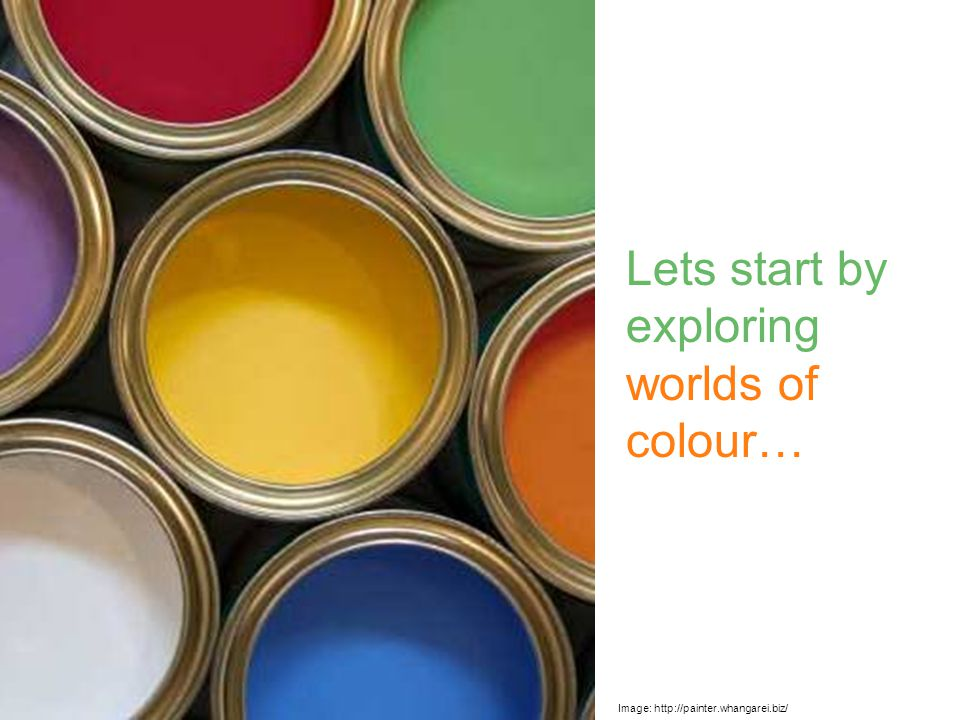 When we make art there are many things we can use to show colour