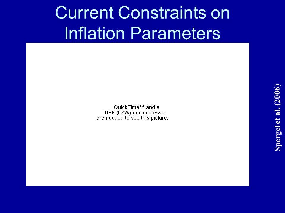 Current Constraints on Inflation Parameters Spergel et al. (2006)